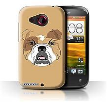 Carcasa/Funda STUFF4 dura para el HTC Desire C / serie: Caras de animales - Perro/bulldog