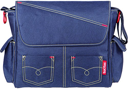 TUC TUC Life in the Air–Wickeltasche Messenger Tasche + Wickelauflage, Marineblau (Air Messenger)