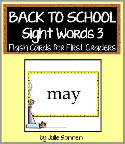 Back to School Sight Words 3 - Flash Cards for First Graders (Back to School Sight Words for New Readers) (English Edition)