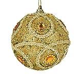 Colorful(TM) Weihnachten Rosa Glitter Christbaumkugeln eier Xmas Baum Ornament Dekoration 8cm (Gold)