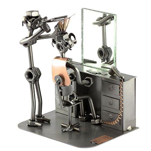 Steelman24 i omini di viti parrucchiere con specchio i idee regalo originale i soprammobili in metallo i modellino