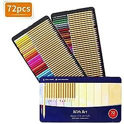 TOPERSUN Lápiz de Color 72 Colores Soluble en agua Regalo Ideal para Artistas Adultos y Niños
