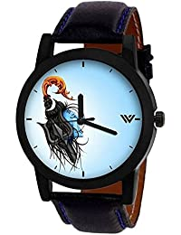 Divine Shiv Dial Black Leather Belt Watch For Boys & Girls Watch - For Men & Women Watch - For Men