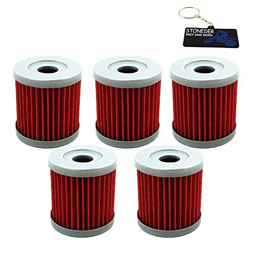 STONEDER 5x Filtro de aceite para HF139 y KN139 KFX400 ARCTIC CAT DVX400  ARCTIC CAT DVX400 TS ARCTIC CAT DVX400 TS DRZ400E DRZ400S DRZ400S DRZ400SM
