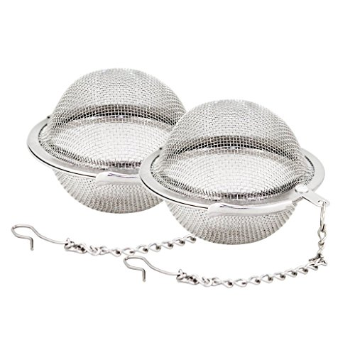 2pcs Stainless Steel Mesh Tea Ball 2.1 Inch Tea Infuser Strainers Tea Strainer Filters Tea Interval Diffuser for Tea Test