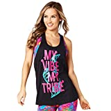 Zumba Fitness Damen Vibe My Tribe Loose Tank Frauentops, Back to Black, XS