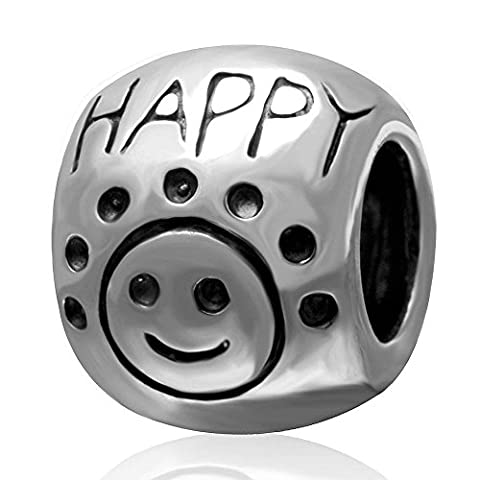 soulbead Don 't Worry Be Happy Sun Face Sterling Silber