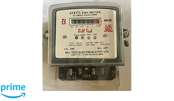 Billtech Sub Meter Single Phase 2 Wire Counter Type Meter Big Body ...