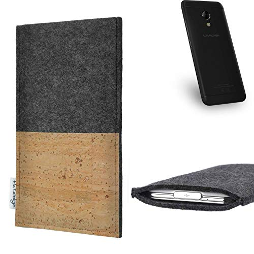 flat.design vegane Handy Hülle Evora für UMIDIGI C2 Kartenfach Kork Schutz Tasche handgemacht fair vegan