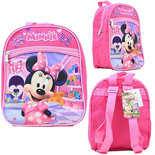 Disney Minnie Maus Mädchen Rucksack 25,4 cm Canvas Besties Lizenzprodukt -