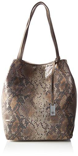 Tom Tailor Denim Damen Mila Vip Schultertasche, Braun (Braun), 14 x 34 x 43 cm (Handtasche Metall-schlange)