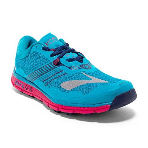 Brooks Puregrit 5, Chaussures de Course Femme Turquoise (Peacock Blue/virtual Pink/patriot Blue)