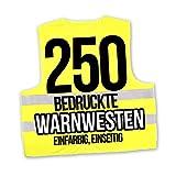 Korntex Warnwesten Sicherheitswesten bedrucken mit eigenem Logo 1farbig 250 Stück