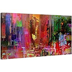 Gallery of Innovative Art Tableau Décoration Murale 100x50cm - Big City Life - Impression sur Toile XXL Tendue sur 2cm Châssis en Bois - Déco Salon Contemporain - Design par Joe Ganech