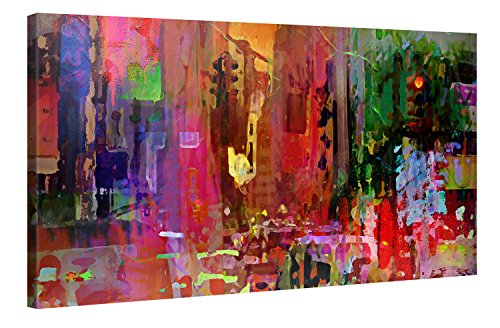 Big City Life - Premium Canvas Art Print Wall Decor - 100x50cm XXL Giclee Canvas Print, Wall Art Canvas Picture, Canvas Picture Stretched on a Frame, Canvas Image in High Definition - City-art-giclee Canvas