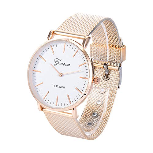 Altsommer Frauen Sport Quarz Uhr Kunststoffarmband mit Glas Uhr,Armband mit 2cm Bandbreite,Analog Quarzuhr mit Dornschließe Damen Uhr für Damen Herren, 25cm Bandlänge (B)
