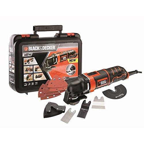 Black+decker mt300ka-qs utensile multifunzione, valigetta, 300w