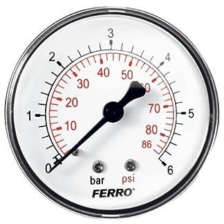 Industrial 63 mm hidráulico medidor de presión trasera revisiones manómetro de 6 0,64 cm