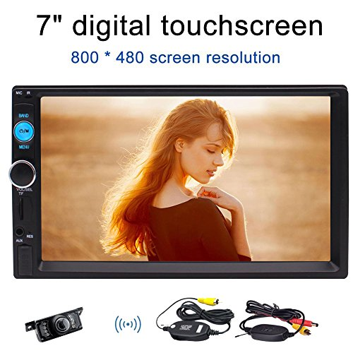EINCAR Bluetooth Double 2 Lärm-Auto-Stereo-Wireless-Rückansicht-Kamera-Unterstützung Front USB/TF Port FM Aux-Eingang 7-Zoll-Universal-Digital-HD Bluetooth Autoradio MP5 Multimedia Wireless Rem -