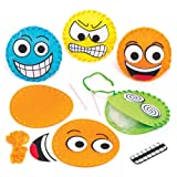 Mini-Kissen-Nähsets Lustige Gesichter – Kreatives Bastelset für Kinder Zum Nähen, Dekorieren und Spielen (4 Stück)
