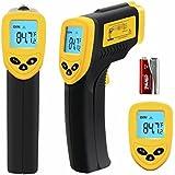 Revesun Lasergrip 774- Termómetro infrarrojo digital sin contacto, láser, pistola, color amarillo y negro