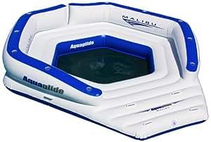 Aquaglide Malibu Lounger - Wasserpark, Badeinsel, Badelounge, Party Oase / Platz für bis zu 10 Pers. / Maße: 376x350x35,5cm