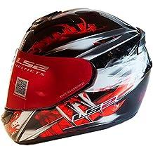 LS2 FF351 Wolf - Casco integral de moto, talla M, color rojo