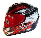 LS2 FF351 Wolf - Motorrad-Helm - Integralhelm - ACU Gold - Schwarz/Rot - XXL