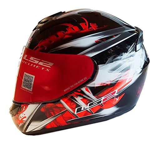 LS2 FF351 Wolf - Motorrad-Helm - Integralhelm - ACU Gold - Schwarz/Rot - S