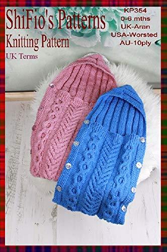 Knitting Pattern Kp354 Baby Sleeping Bag 0 6mths Uk