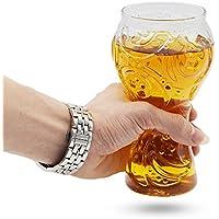 Taza de la cerveza de la taza de MMTX Glass 2018 Rusia Trofeo del mundo de fútbol de la FIFA Cultura del vidrio de la forma Fútbol para la barra de la familia Suministros del partido del club Celebración de acampar, el mejor regalo para su aficionado al fútbol Su novio, marido, padre.