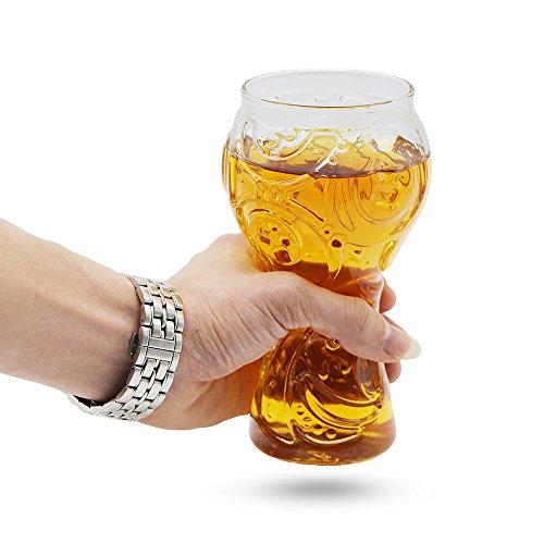 MMTX Tasse Bierkrug Glas 2018 Russland FIFA Fußball Welt Trophäe Form Glas Kultur Fußball für Familien Bar Club Partyangebot Camping Feier, Bestes Geschenk für Ihren Fußballfan Ihr Freund, Ehemann, Vater.