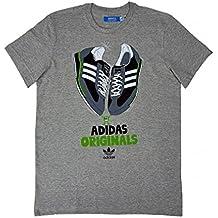 Adidas Originals G de hojas sports performance para hombre T-Shirt Gris grau, SL 72 Talla:S