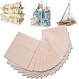 15 fogli di legno di balsa per modellismo, fai da te, 150 mm x 100 mm x 2 mm