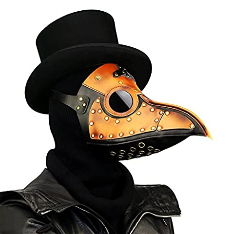 XY Fancy Halloween Party Mask Plague Doctor Cosplay Props Steampunk