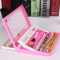 Gifts Online™ Utility Book Shelf Pencil Box + Drawing Board   Assorted Colours