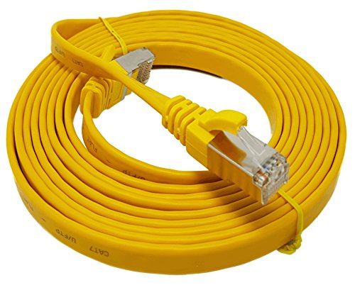 25-polig Switch Box (15 m Flachkabel.Ethernet-Kabel, 15 m, Gelb)