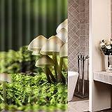 Guohome Duschvorhänge Grün Frischer Pilz Dschungel Gras Grünes Wasserdichtes Anti-mehltau Stoff Badezimmer Dusche Vorhang 66