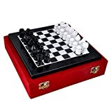 Baba HANDICRAFTS Store White Marble Chess Board with Marble Peace Best Gift Item 10 inch