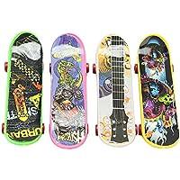 4X Mini Monopatin Patineta de Dedo Patín Tabla Regalo Niños Finger Skateboard