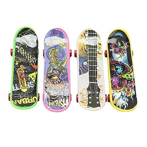 Pinzhi 4 Stk neue Mode Kunststoff Finger Skateboard Chirdren Kinder