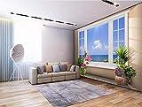 Wxlsl Benutzerdefinierte Wandbild 3D Tapete Blick Auf Das Meer Vor Dem Fenster Zimmer Dekor Malerei 3D Wandbilder Tapete-150Cmx105Cm