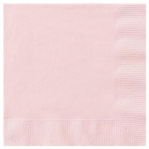 Serviette Papier Rose - Unique Party Lot de 20 serviettes en