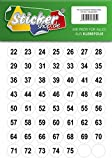 75 nummerierte Klebepunkte, 25 mm, transparent, aus PVC Folie, wetterfest, Markierungspunkte Kreise Punkte Zahlen Nummern Aufkleber