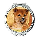 Yanteng Spiegel, Travel Mirror, Terrier Yorkie Hundehunde für Mobile, Taschenspiegel, 1 X 2 X Vergrößerung