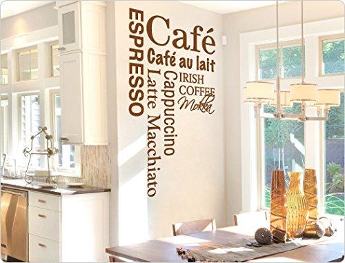 """'I-love-Wandtattoo-Adesivo 11021adesivo da parete con scritta """"caffè cucina da parete adesivo da parete, Verde lime, 44 x 80 cm"""