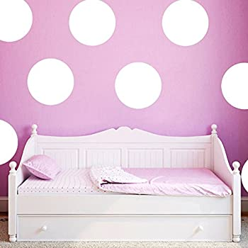 Vinyl Polka Dot Wall Decal Art Wall Stickers Peel U0026 Stick 10cm 20dots White Part 97