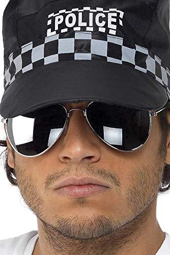 Pilotenbrille Silber verspiegelt Silberner Rahmen, One (Top Gun Kostüm Billig)