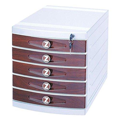 Aktenschrank mit Schloss-Schreibtisch-Speicher 5 Schichten, die Kabinette archivieren Xuan - worth having - Holz-speicher-kabinette