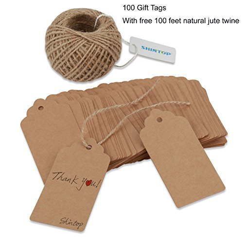 shintop-100pcs-kraft-paper-gift-tags-bonbonniere-favor-rectangular-gift-tags-with-free-100-feet-natu
